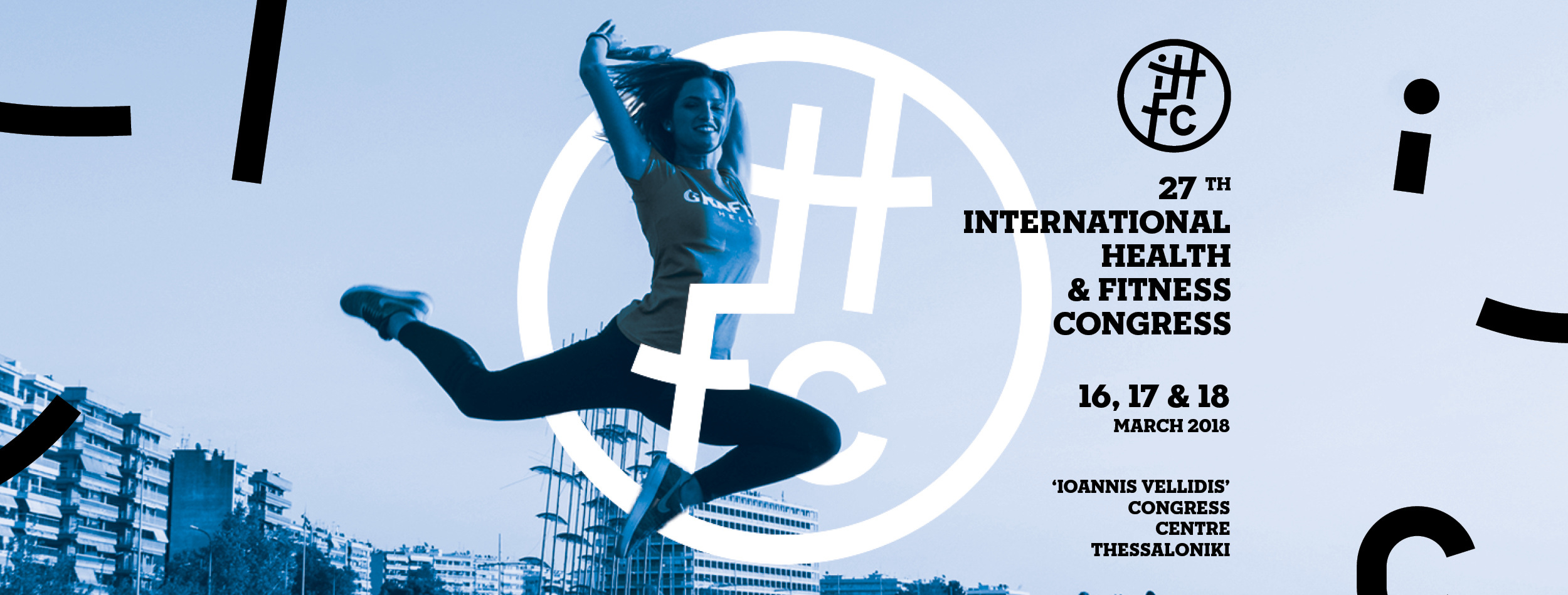 27th International Health & Fitness Congress by Grafts Hellas banner