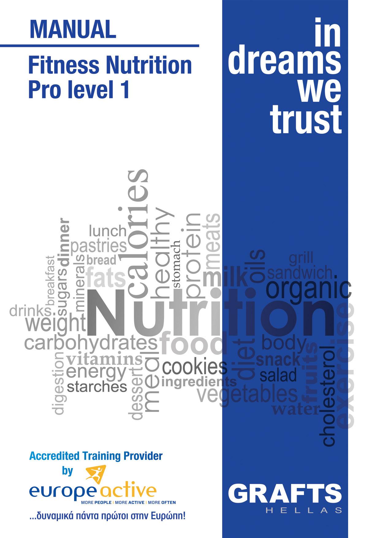 Grafts Hellas manual - Fitness Nutrition - Pro Level 1