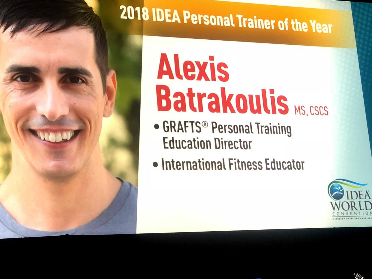 Αλέξης Μπατρακούλης - Τομεάρχης Personal Training της GRAFTS - 2018 IDEA Personal Trainer of the Year - φωτογραφία 2