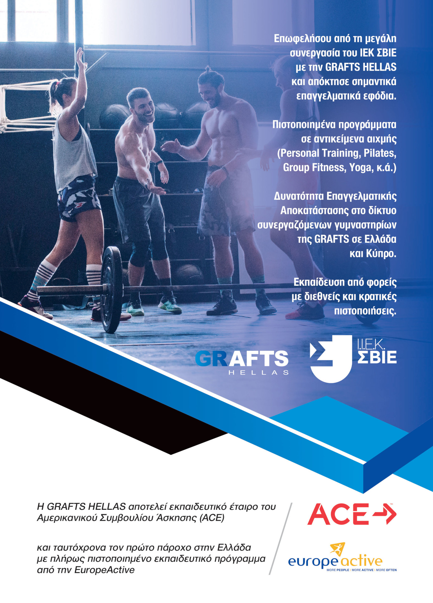 GRAFTS Hellas and IEK SVIE partnership flyer - 2