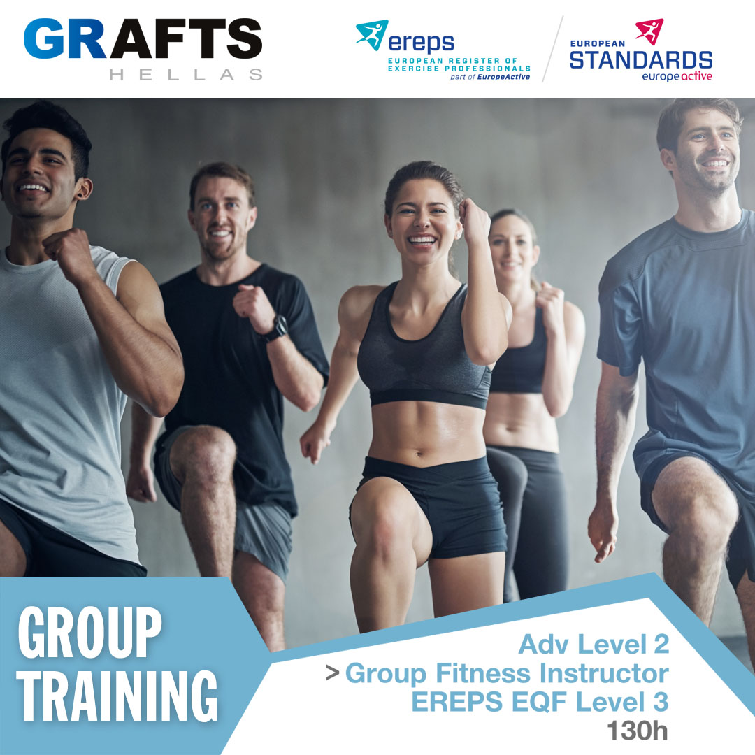 Grafts Hellas poster - Group Fitness Instructor - Adv level 2