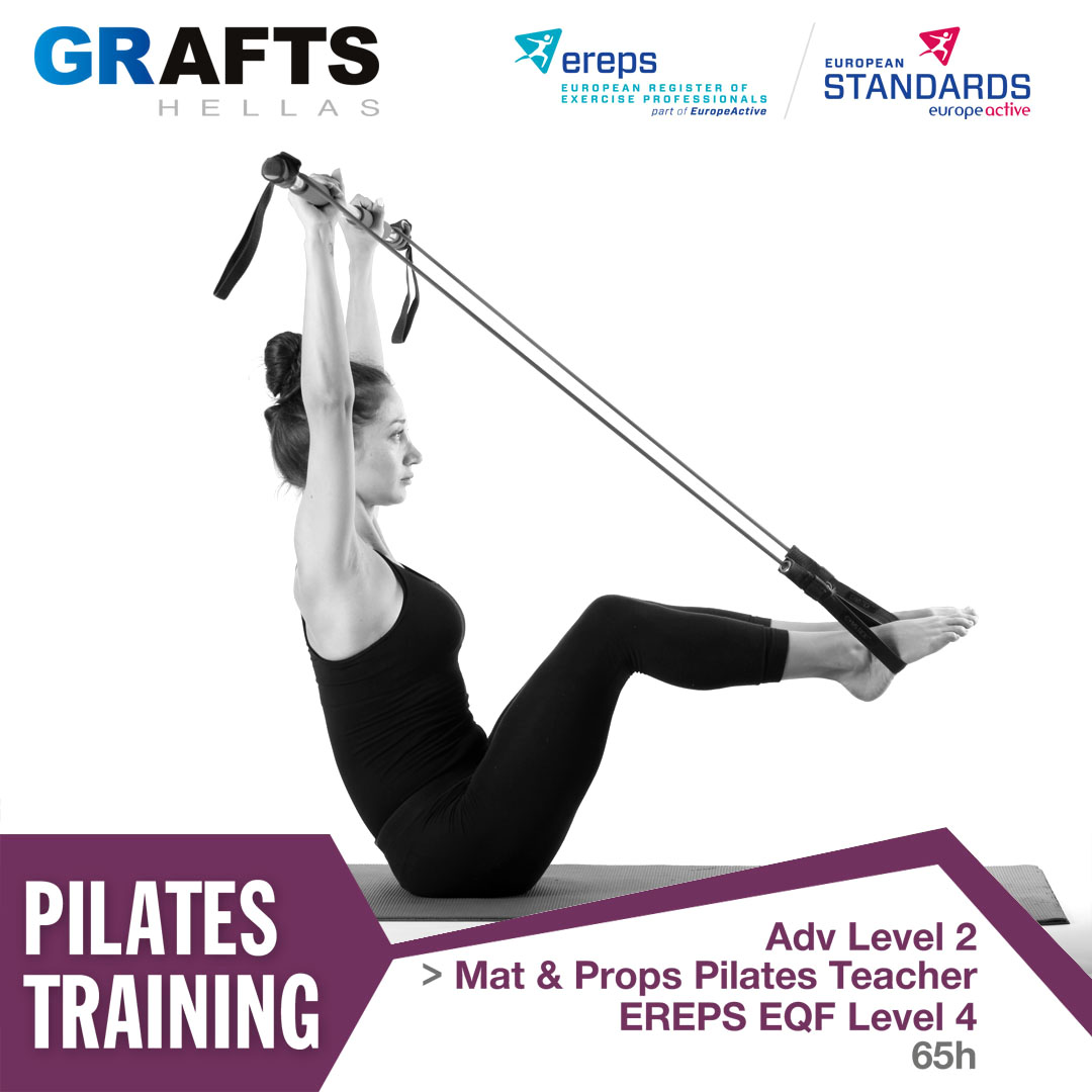 Grafts Hellas poster - Mat & Props Pilates Teacher - Adv level 2