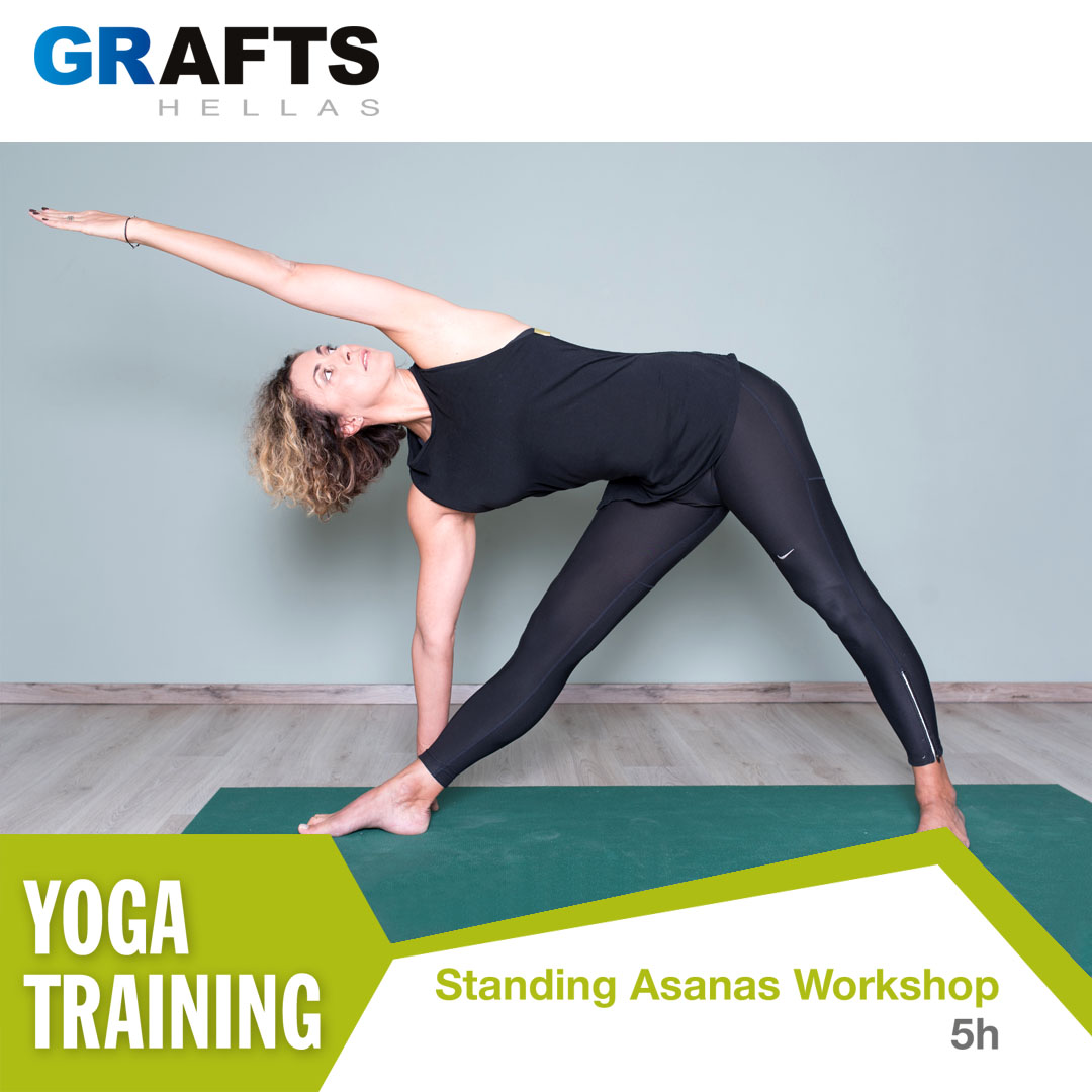 Grafts Hellas poster - Standing Asanas yoga workshop