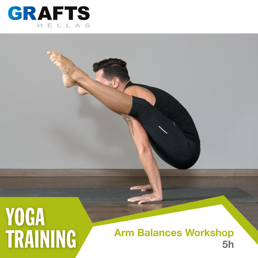 Grafts Hellas poster - Arm Balances yoga workshop