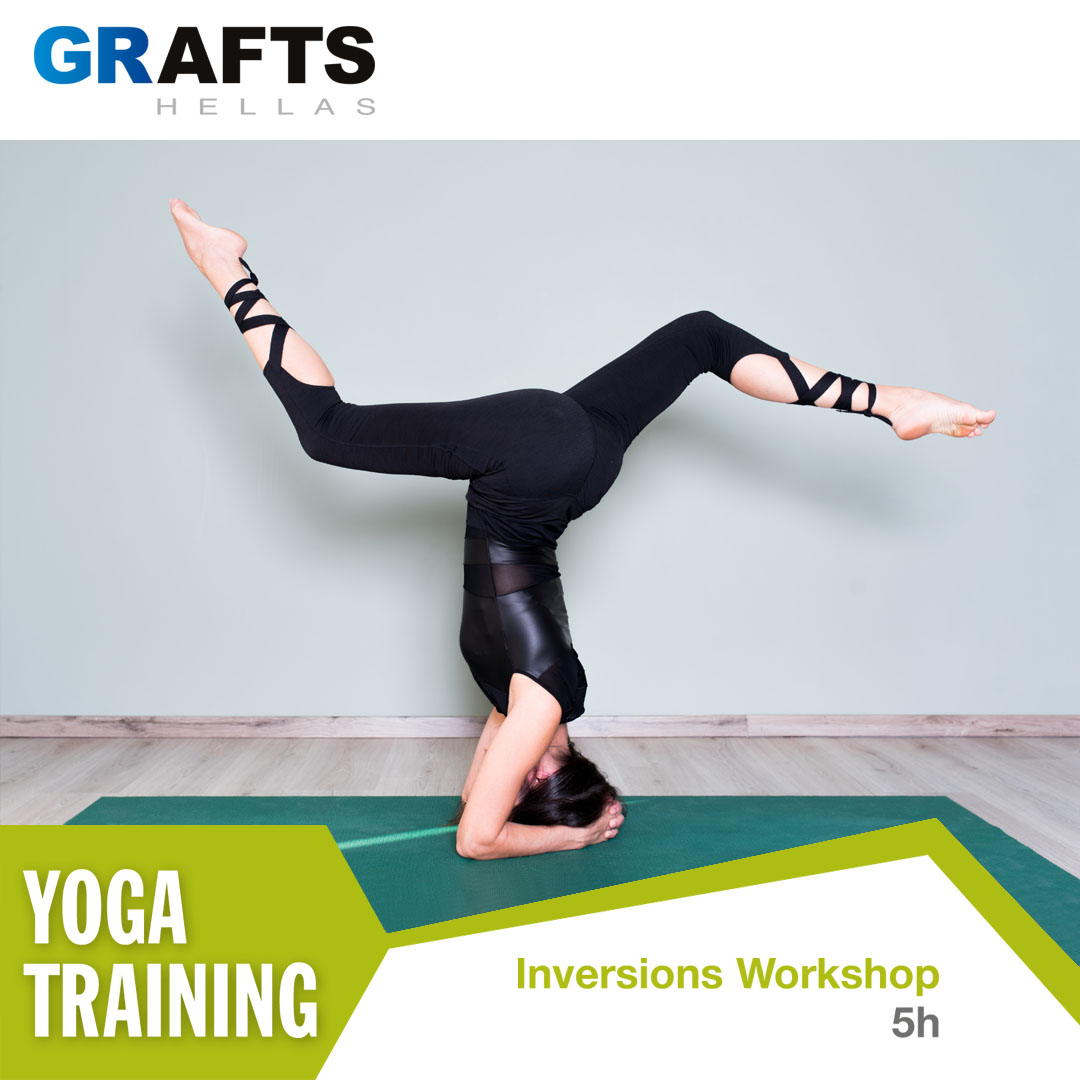 Grafts Hellas poster - Inversions yoga workshop